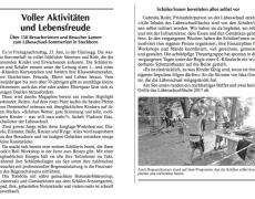 Zeitungsartikel zum Sommerfest 2017