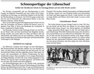 Artikel Bote 29.03.2018 Schneesportlager