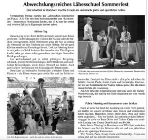 Artikel Bote Sommerfest 2018